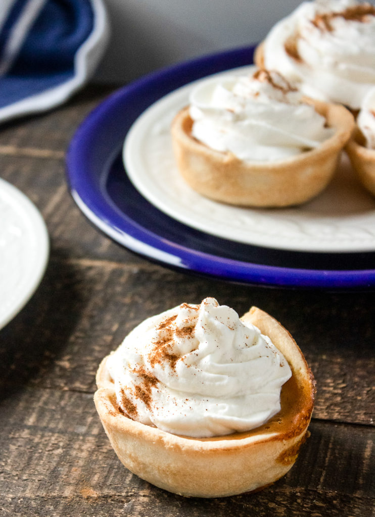 mini personal pumpkin pies