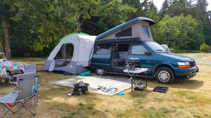 full camper van set up