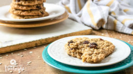 classic oatmeal cookies on plate