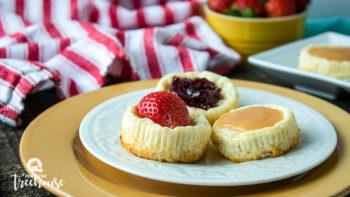bite sized cheesecakes