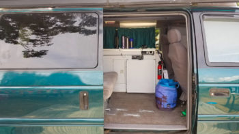 the inside of a camper van