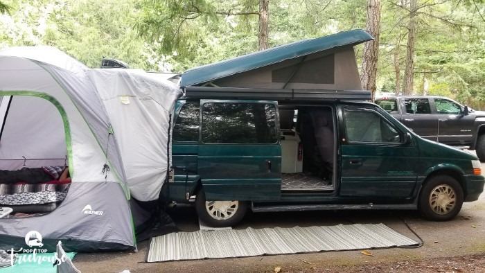 Camper Set Up with Truck