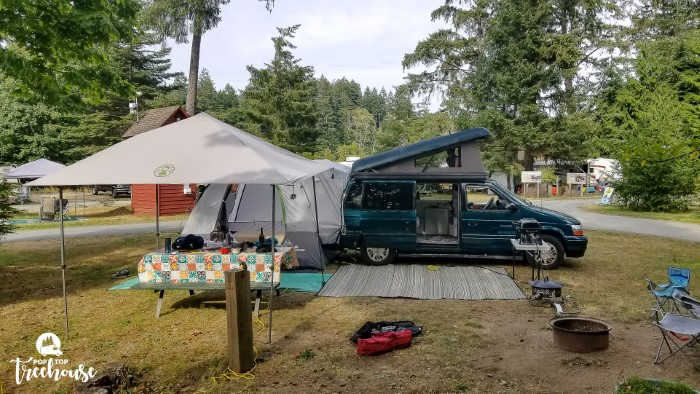 overall camping set up