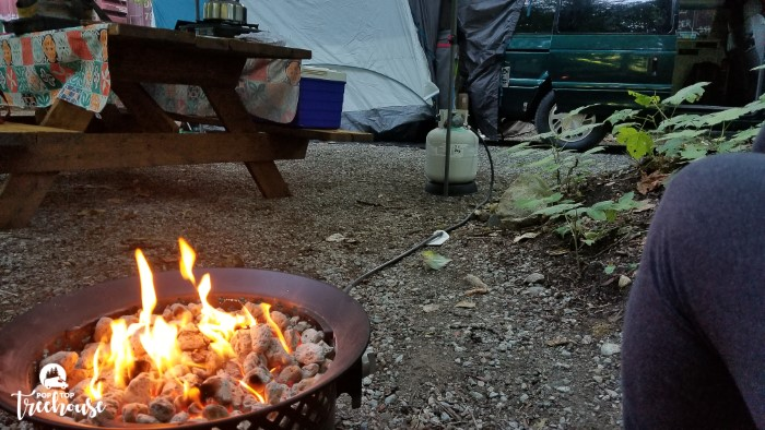 portable fire pit with propane tank