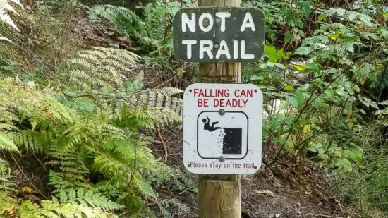safety sign when camping